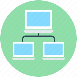 client server, data share, network share, pc share, server share icon