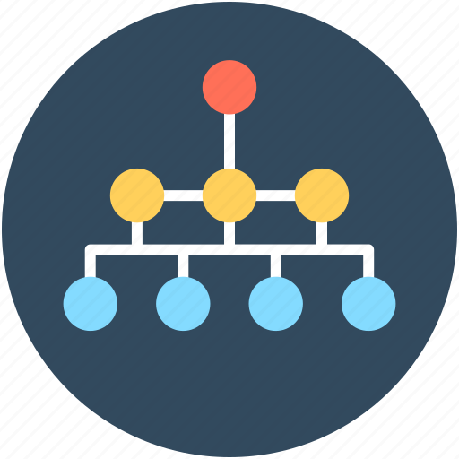 flow, hierarchy, networking, process, sitemap icon