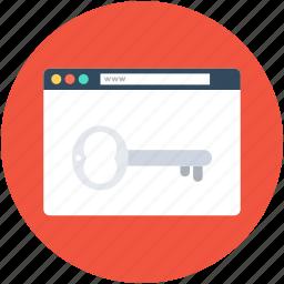 internet security, key, safe browser, web security, website icon