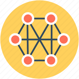 connections, network, network grid, network sharing, networking icon