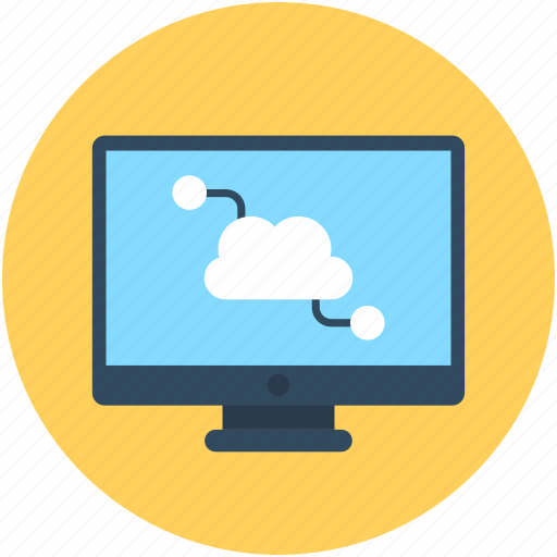 cloud computing, cloud network, cloud sharing icon