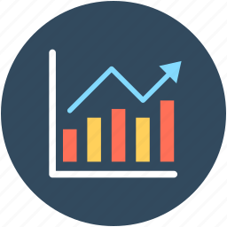 analytics, bar graph, graph, growth chart, line graph icon