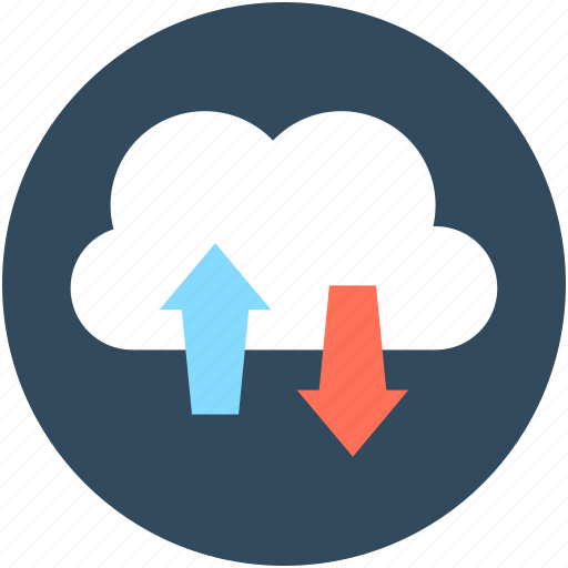 cloud computing, cloud downloading, cloud network, cloud sharing, cloud uploading icon