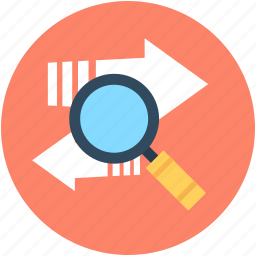 analytics, analyze, data analytics, data searching, search trends icon