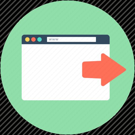 arrow, browser, forward arrow, web page, website icon