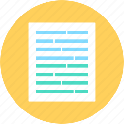contract, document, note, sheet, text document icon