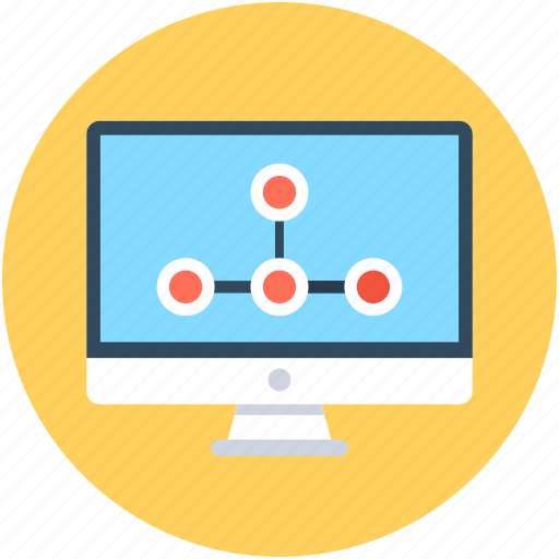 monitor, online graph, ranking graph, rating graph, seo graph icon
