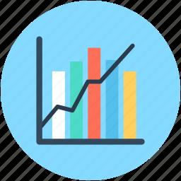 analytics, bar chart, bar graph, growth chart, statistics icon