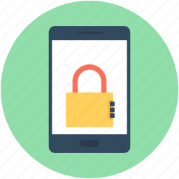 lock, mobile, mobile lock, mobile security, smartphone icon