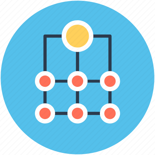 hierarchy, networking, programming process, sitemap, workflow icon