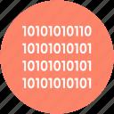 binary, binary code, coding, data management, programming icon
