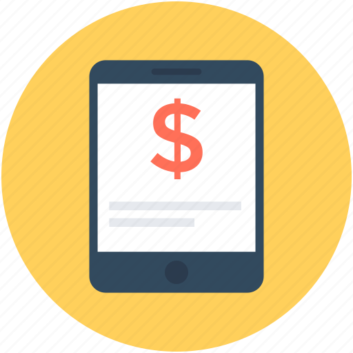 commerce, dollar, mobile banking, payment, smartphone icon