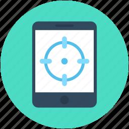crosshair, digital marketing, mobile, mobile marketing, smartphone icon