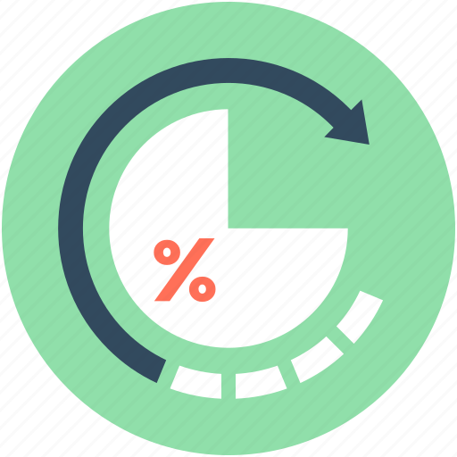 Initializing, percentage graph, pie chart, refresh, reload graph icon - Download on Iconfinder