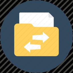 archive, folder, folder exchange, folder transferring, share folder icon