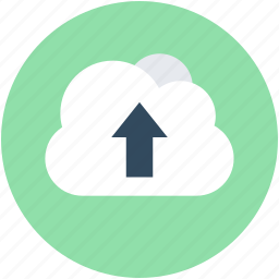 cloud data transmission, cloud transfer, cloud upload, data transfer, uploading icon