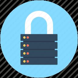 lock server, locked, server, server network, server protection icon