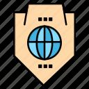 access, globe, protection, shield, world