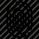 fingerprint, identity, recognition, scan, scanner, scanning icon