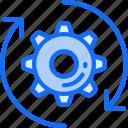 arrows, cog, data science, method, process icon