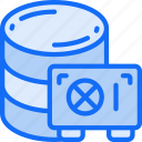 data, data science, information, safe, secure, storage icon