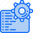 code, cog, data science, engineering, management, settings icon