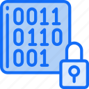 binary, data, data science, encrypt, lock, numbers, unlock icon