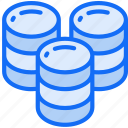 data, data science, large, multiple, storage icon