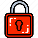 data science, essentials, lock, secure, unsecure icon