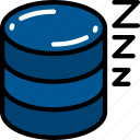 data, data science, in, rest, sleeping, snoring, storage icon