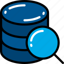 data, data science, research, scientific, search, storage icon