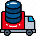 data, data science, in, move, transit, travel, truck icon