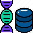 data, data science, dna, human, scientific, storage icon