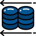 backup, data science, information, restore, storage icon