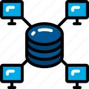 computers, data, data science, network, process, storage icon