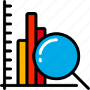 bar, chart, data, data science, graph, information, research icon