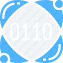 binary, data, data science, numbers, science, scientific icon