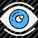 data science, eye, information, sight, visualisation icon