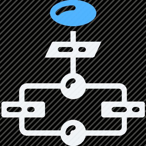 data science, flowchart, list, order, process icon