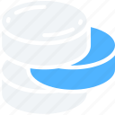 data, data science, information, stack, storage, unstructured icon