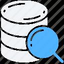 data, data science, research, scientific, search, storage icon