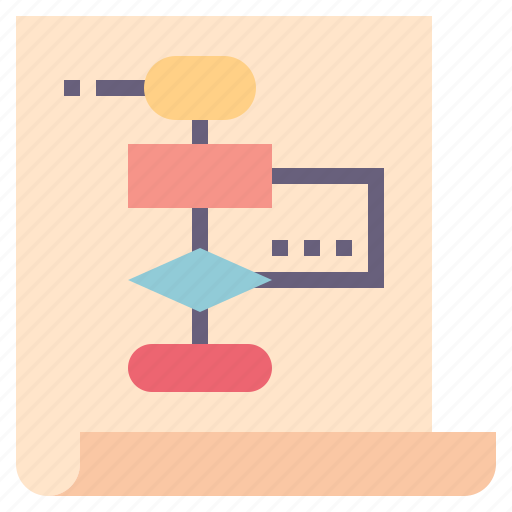 Algorithm, chart, flow, logic, plan, process icon - Download on Iconfinder