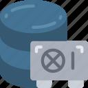 data, data science, information, safe, secure, storage icon