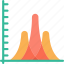 area, chart, data, data science, graph, information icon