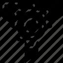 cog, data science, essentials, filering, funnel, process icon