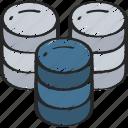 big, data, data science, large, multiple, storage icon