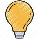 bulb, data science, idea, light, smart, think icon