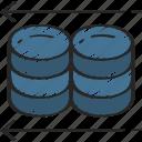 backup, data science, information, restore, storage icon