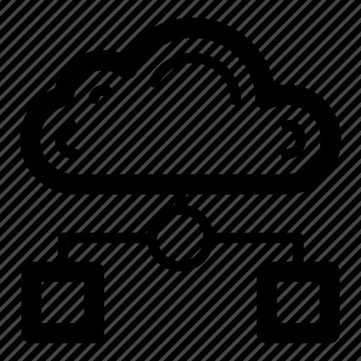 big data, cloud computing, cloud hosting, cloud network, cloud services, cloud storage icon