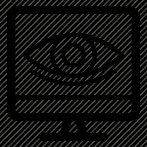 data watching, network monitoring, online data monitoring, online observation, remote monitoring icon